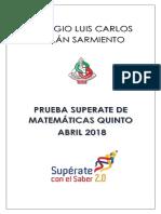 PRUEBA SUPÉRATE QUINTO ABRIL  2018