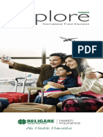 Explore (Travel Insurance Product) Brochure