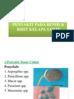Penyakit Pada Benih & Bibit Kelapa Sawit Ppt
