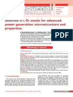 Journal Modified 9% Cr steels for advanced