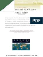 La fake news del MUOS como «maxi radar», por Manlio Dinucci