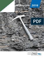 DBE TECHNOLOGY GmbH, D-31228 Peine, Annual Report JB2016