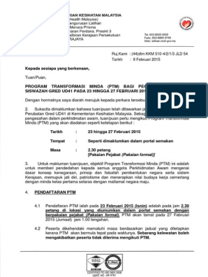 Surat Panggilan Ptm On9 With Fine Letterhead