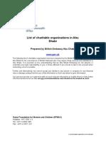 List of Charitable Organisations in Abu Dhabi