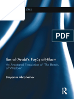 (Routledge Sufi Series) Binyamin Abrahamov-Ibn Al-ʿArabī's Fuṣūṣ Al-Ḥikam_ an Annotated Translation of _The Bezels of Wisdom_-Routledge (2015)
