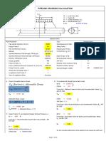 Crossing Calculation API 1102 8inch Sch40 Api5lbrg 1.3depth