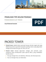 3. Pemilihan Tipe Kolom Pemisah Packed Tower