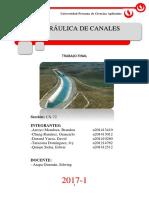 Diseño de canal para regadios
