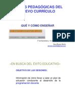 CLAVES PEDAGOGICAS DEL  CURRICULO