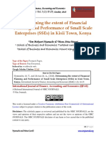 Determining the Extent of Financial Planning and Performance of Small Scale Enterprises (SSEs) in Kisii Town, Kenya (Repaired)