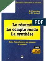 Le Resume Le Compte Rendu La Synthese Compressed