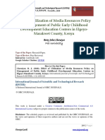 Utilization of Media Resources Policy and Its Effect on Management of Public Early Childhood Development Education Centers in Elgeyo-marakwet County