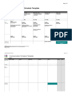 Communication Schedule Template v2.8