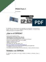 Arduino ESP8266 Parte I