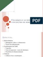 Poliarquia e as Diferentes Concepções de Democracia