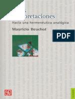 Hechos e interpretaciones - M. Beuchot