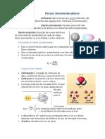 Resumo. Forças Intermoleculares