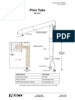 Pitot Tube Instruction Sheet ME 2221
