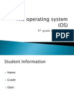 the operating system  online work file os