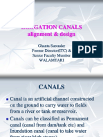 Canal Alignment & Desgin