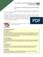 Lección 1-3 Las Aptitudes de Comunicación en Situaciones de Trabajo