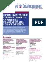 ProparcoRevue 06FR WEB 120710 Capital Investissement Et Energies Propres Catalyser Les Fin an Cements Dans Les Pays Emergents