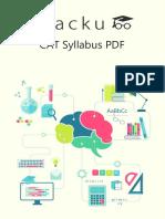 CAT Syllabus PDF