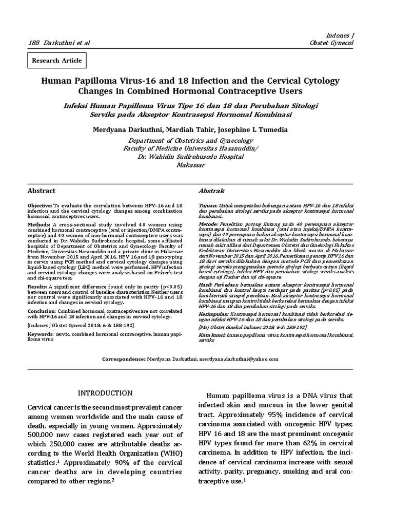 humán papilloma vírus zararlar