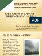 Cambio Climático, Efecto Económico en El Perú