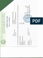 TOEFL Certificates