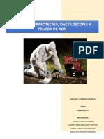 Balistica, Dactiloscopia, Grafotecnica y ADN