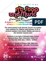 Don't Stop the Music - Children's Auditions