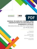 Manual de Analisis Criminal y Observatorios Locales Web