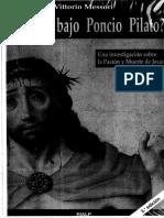 Padeció Bajo Poncio Pilato - Vittorio Mesori