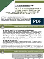 Ordenanza Arbitrios Muncipales 2018 - Concejo Municipal MPT