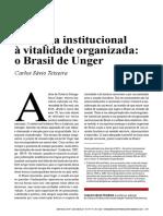 Da cópia institucional à vitalidade organizada o Brasil de Unger