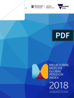 Melbourne Mercer Global Pension Index 2018