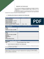 Modelo Proposta de Trabalho PST PADRAO 2017