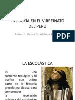 Filosofía en El Virreinato Del Perú