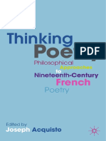Thinking Poetry - Philosophical Approaches to Nineteenth Century French Poetry