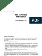 500 Japanese Sentences