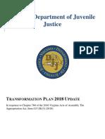 Virginia Department of Juvenile Justice Transformation Update