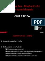 Normativa de Ecodiseno ErP Guia Rapida Presentacion de Producto 2013