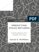 David G McMillan (Auth.) - Predicting Stock Returns_ Implications for Asset Pricing (2018, Palgrave Pivot)