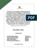 Informe Final de La Comisio n Lava Jato sobre Odebrecht  y la corrupcion oficial del Peru 2018