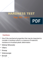 Hardness Test  training