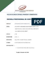Actividad N° 03  - (IF) - Régimen MYPE  Tributario y sus efectos en la recaudación del impuesto a la renta en el Perú