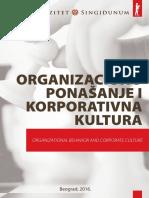 US - Organizaciono Ponašanje i Korporativna Kultura