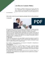 Código de Ética de Contador Público Olegiado Ruben