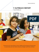 New Mexico Early Childhood Development Partnership Community Outreach Report — November 2018